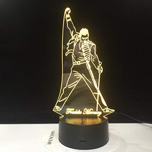 Freddie Mercury luci luce notturna sensore tattile baby bambini luce notturna luci per ufficio decorazione dirett