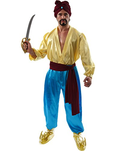 Herren Sinbad Pirate Aladdin Ali Baba Kostüm Pantomime Outfit Extra (Kostüme Fancy Dress Pirate Herren)