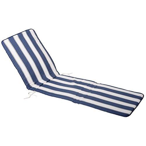 Saturnia 8097515 Coussin pour chaise longue Bleu/blanc 189 x 58,5 x 2,5 cm