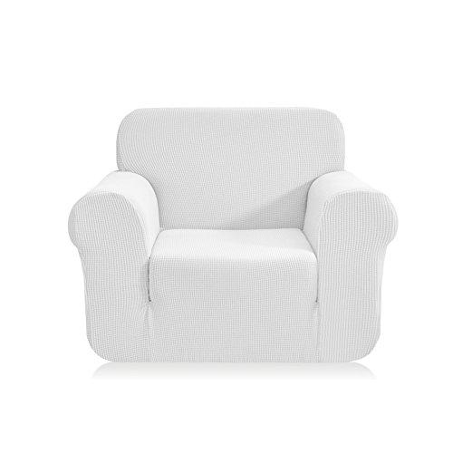 CHUN YI 1-Stück Jacquard Sofaüberwurf, Sofaüberzug, Sofahusse, Sofabezug für Sofa, Couch, Sessel, mehrere Farben (Weiß, 1-sitzer) (Sofas Und Sofas Mit Sessel)