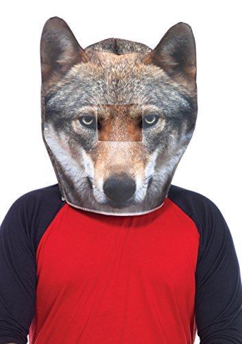 um Wolf Kopfmaske, Männer Karneval Kostüm Fasching, einheitsgröße, grau ()