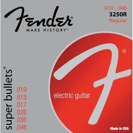 FENDER 3250 R (.010 - .046 Nickel Plated Steel, Bullet End. Für Stratocaster oder andere Gitarren mit ähnlichem Tremolo. Wesentlich stimmstabiler als andere Saiten!)