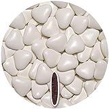 EinsSein 0,5kg Dragées mariage au chocolat cœur grand blanc terne dragees bapteme communion amandes feter et recevoir fêter de fete couleur pas cher aux bombe tag voir mes etui contenant boite a