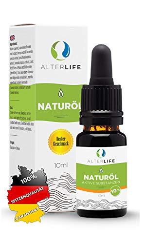 AlterLife gänzlich natürliche Öl Tropfen 10ml, aktive Verbindungen mit ISO Zertifikat, entspricht der deutschen und EU Gesetzgebung zu 100{ce0e46c627cb985c15e28d0aba65a55249ccf43f9dd22d5951db10f8ffa505a2}