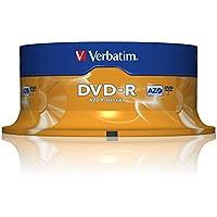 Verbatim Dvd-R 4,7 Gb / 120 Min / 16X Tarrina (25 Discos) Datalifeplus, Superficie Resistente A Los Arañazos