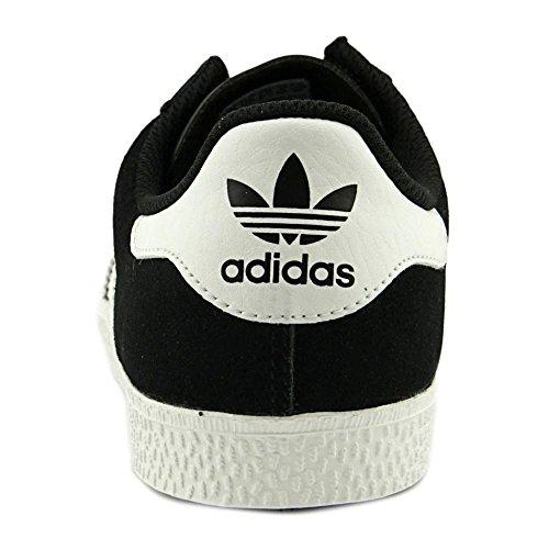 Adidas Youths Gazelle 2 Suede Trainers Schwarz Weiss