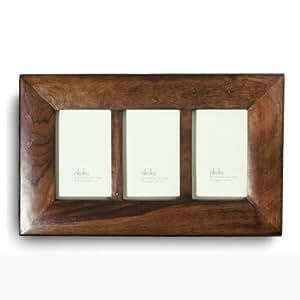 Sheesham Wood Photo Frame 3 Windows