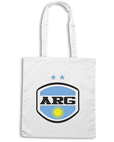 T-Shirtshock - Borsa Shopping WC0023 ARGENTINA Bianco
