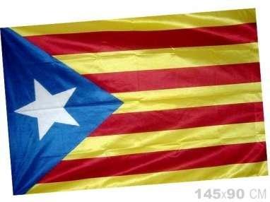 Estelada catalana bandera catalunya cataluña independentista. 90 *145 Cm.