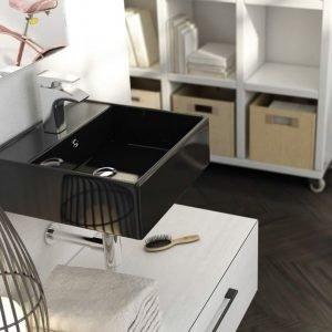 ART&BATH Lavabo SUSPENDIDO Libra Negro 410X410X150 (NO Incluye Mueble)