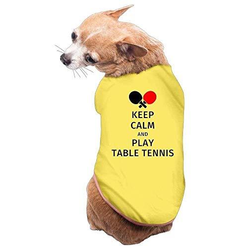 GSEGSEG Hundekleidung, Mantel, Kostüm, Pullover, Weste, für Hunde und Katzen, weich, dünn, halten Sie ruhig und Spielen Sie Tischtennis, 3 Größen und 4 Farben erhältlich (Tischtennis Kostüm)