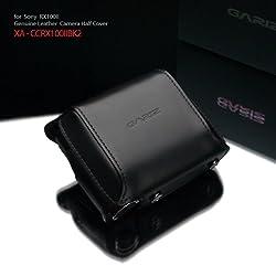 Gariz Genuine Leather XA-CCRX100IIBK2 Camera Leather Cover for Sony RX100II DSC-RX100II RX100 Mark 2 Black