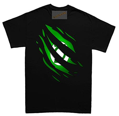 Renowned Secret Hero Inside Green Suit Herren T Shirt Schwarz