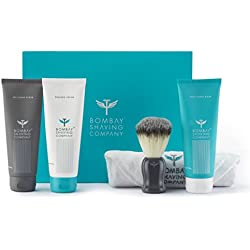 Bombay Shaving Company Shaving Essentials Value Kit - Cream, Scrub, Balm, Brush