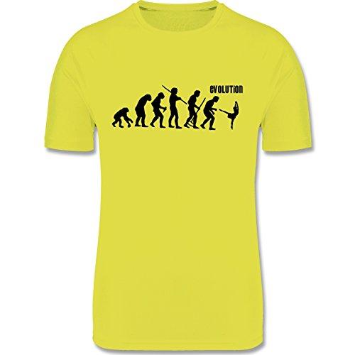 Evolution Kind - Modern Dance Evolution - 164 (14-15 Jahre) - Neon Gelb - F350K - atmungsaktives Laufshirt / Funktionsshirt für Mädchen und (Jungen Für Modern Dance Kostüme)