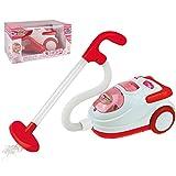 Unbekannt Kinder Spielzeug Staubsauger mit Licht und Sound, mit Saugfunktion, in rot und weiß - Haushalts Reinigung Gerät Zubehör