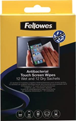 Fellowes Cleaning Wipes Wet/Dry crc2211812Pockets for Touchscreen