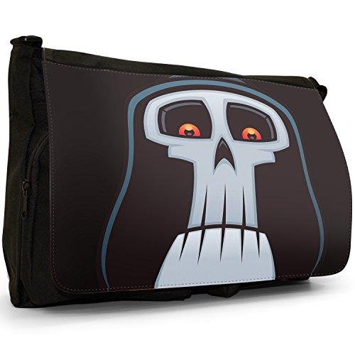 Fancy A Bag Borsa Messenger nero Grim Reaper Face Grim Reaper Face
