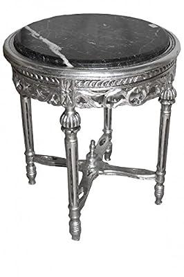 Barock Beistelltisch Rund Silber ModY14 53 x 47 cm Antik Stil