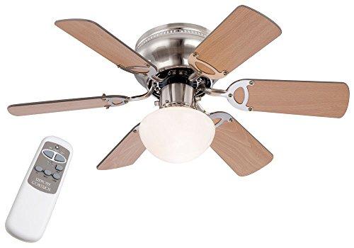 etc-shop Decken Ventilator Raum Kühler Lüfter Lampe im Set inklusive Fernbedienung und 5 W SMD LED Leuchtmittel