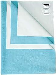 Amazon Brand - Solimo Baby Water Resistant Dry Sheet, Small, 70cm x 50cm, Aqua Blue