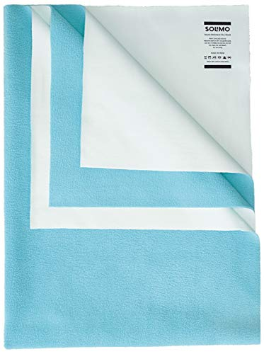 Amazon Brand - Solimo Baby Water Resistant Large Size Dry Sheet (140cm x 100cm, Aqua Blue)
