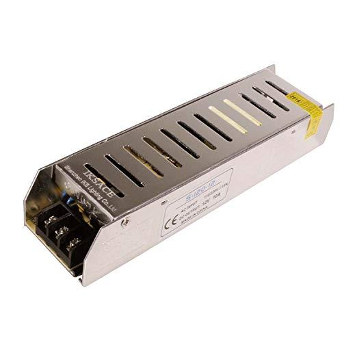 IKSACE 12V LED Netzteil Monitor Treiber Heimgebrauch Adapter Industrietransformator für LED-Streifen Industrielle Stromversorgung Monitor Treiber Adapter Transformator 120W DC12V 10A für LED-Streifen -