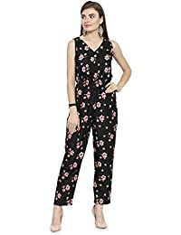 0ec1b8a449f1 Enchanted Drapes Women s Black Crepe Jumpsuit