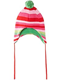 Toby Tiger Pink And Green Stripe Knitted Hat - Bonnet - Fille