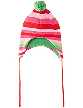 Toby Tiger Mädchen Mütze Pink And Green Stripe Knitted Hat