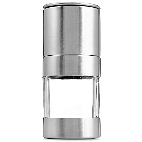 Fjiujin,Edelstahl-manuelle Salzpfeffer-Mühlen-Schleifer-Gewürz, der Werkzeuge kocht(color:SILBER)