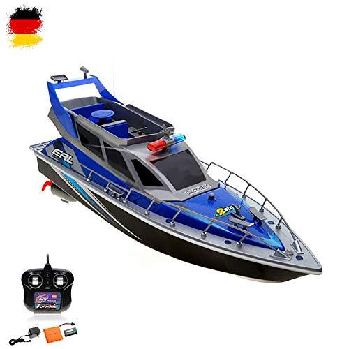 RC ferngesteuertes Polizeiboot Küstenwache Schiff, Ready-to-Run, 430mm, inkl. Akku, Ladegerät, Zubehör, Top-Design*