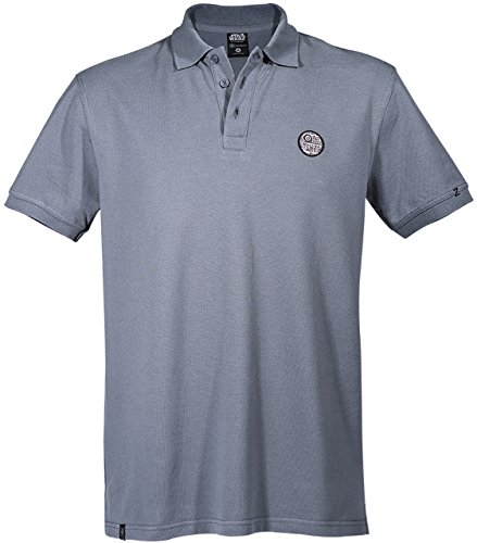 GOZOO Star Wars Polo Shirt Pique Men Death Star - That's No Moon Grey