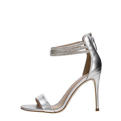 Guess Damen Footwear Dress Sandal Slingback Pumps, Argento (Silver), 38 EU Guess Pumps Silber