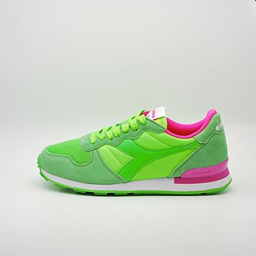 DIADORA Camaro sneakers running TESSUTO PELLE PINK GREEN FLUO C6108 36