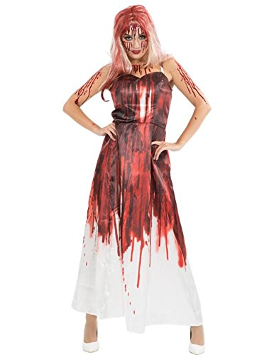 Deluxe Carrie Kostüm Halloween Karneval Verkleidung Damen Small/Medium (Fantastisches Prom-kleid)