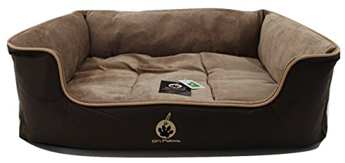 on-paws-sleep-well-lounger-5-sizes-2-colours-brown-dog-bed-size-m-65-x-50-cm