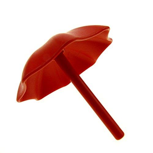 Garten Schirm Regenschirm rot Sonnenschirm Puppenhaus Möbel Lego Duplo C42