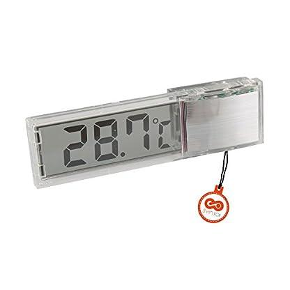 3D Crystal Fish Tank Temperature Gauge Electronic Digital LCD Aquarium Thermometer, Silver 1