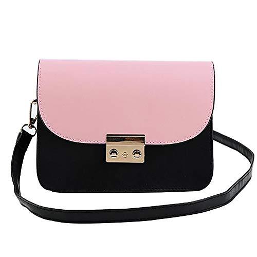 3a64c1642 Bolso de Bandolera para Mujer en Color de Contraste Tendencias de la Moda  Japón Salvaje y