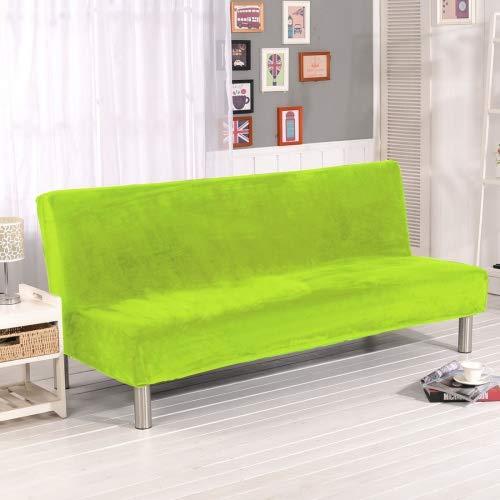 Grünes Stoff Sofa Couch (Dicker Sofaschutzüberzug, unifarben, Sofaschonbezug, elastischer Stretchstoff, mit festen Stretchhussen, ohne Lehnen, für Sofa, Bett, Hundebett, Couch, ausziehbar, grün, 180-210CM)