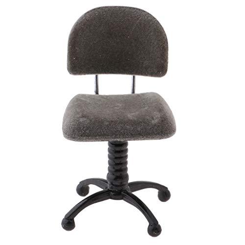 Baoblaze 1/12 Puppenhaus Miniatur Möbel Mini Stuhl Bürostuhl Drehstuhl Schreibtischstuhl Modell - 4,5 * 5 * 7,5 cm