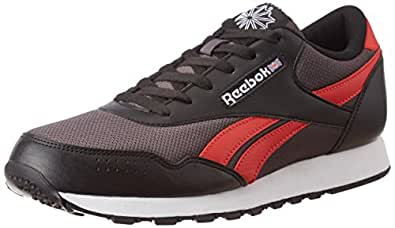Reebok Classics Men's Classic Protonium Ash Grey, Black and Riot Red Sneakers - 10 UK/India (44.5 EU)(11 US)