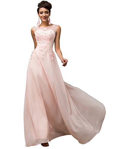 Yafex Grace Karin Women Long Evening Bridesmaid Dress Maxi Chiffon Wedding Ball Gowns Dress Size 6~26W
