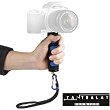 """Yantralay YT-T3 1/4"""" Screw Mini DSLR Hand Stabilizer Holder Grip for Smartphones, GoPro, Canon, Nikon and Other DSLR Cameras with Mobile Attachment (Blue)"""