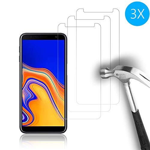 Cardana | 3X bruchsicheres Panzerglas für Samsung Galaxy J6 2018 Plus | Schutzfolie aus 9H Echt Glas