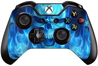 Elton Xbox One Controller Designer 3M Skin for Xbox One, DualShock Remote Wireless Controller - Blue Skull Skin for One Controller Only