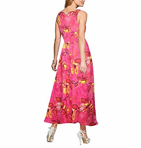 CoCo Fashion - Robe - Trapèze - Sans Manche - Femme Z601_Rot