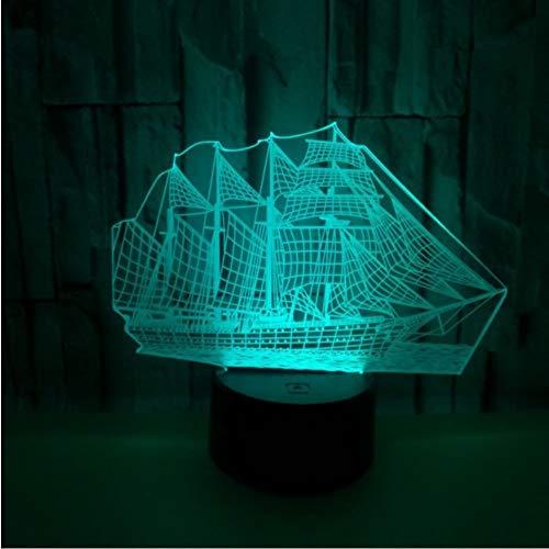Ponana Segeln 3D Nachtlampe Neutral Usb Led Nachtlicht Led Smart Home Remote Touch Schalter Weihnachten Dekorative Lichter -