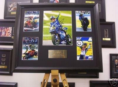 Valentino Rossi autograph display sport memorabilia